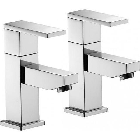Bloque Basin Pillar Taps (Pair)