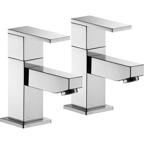 Bloque Bath Pillar Taps (Pair) Bath Taps