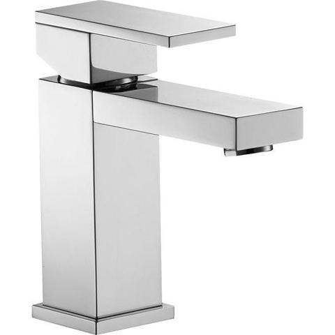 Bloque Small Single Lever Basin Mixer With Clicker Waste