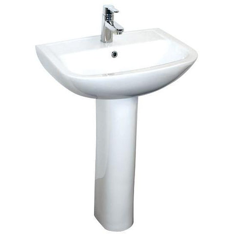 Bermuda 55Cm Basin And Pedestal