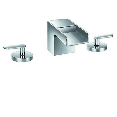 Cascade 3-Hole Basin Mixer With Clicker Waste Set