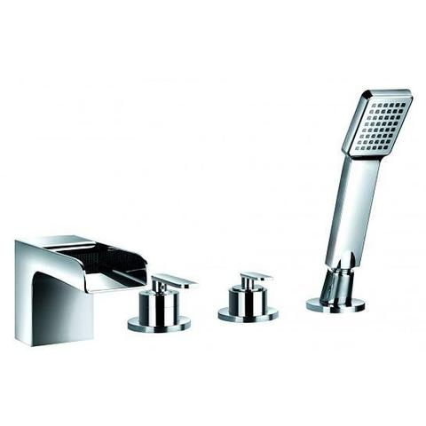 Cascade 4-Hole Bath And Shower Mixer With Set