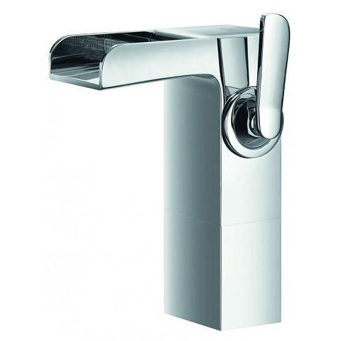 Cascade Mid-Height Basin Mixer With Clicker Waste Set
