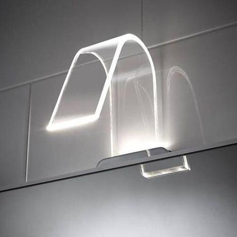 Cascade Curved Acrylic Led Over Mirror Light - 3 Pack