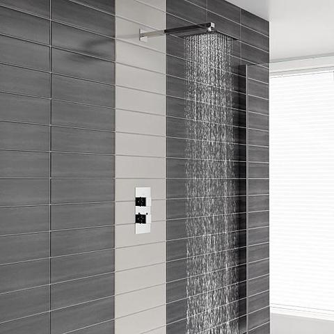 Charlton Square Twin Valve Thermostatic Shower Mixers