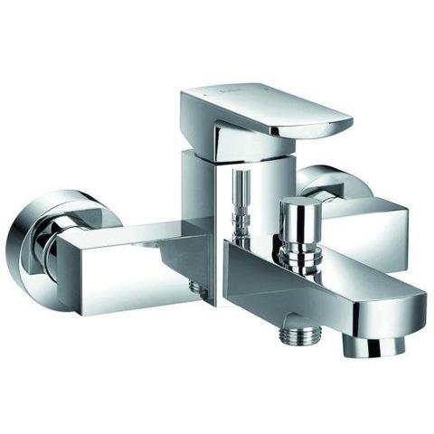 Dekka Wall Mounted Manual Single Lever Bath And Shower Mixer (Excludes Kit)