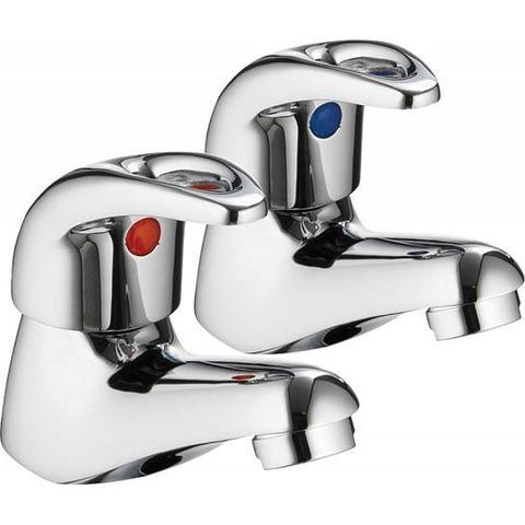 Dv8 Bath Pillar Taps (Pair) Bath Taps