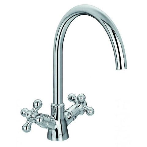 Flova Elegance Two-Handle Kitchen Mixer Waste Disposers & Hot Water Taps