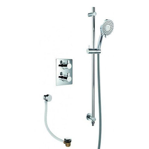 Essence Concealed Thermostatic Shower Mixer 2-Way Diverter With Ki038 Mixers