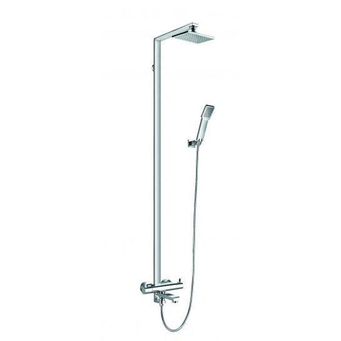 Essence Thermostatic Exposed Shower Column With Hand-Shower Set Overhead Mixers