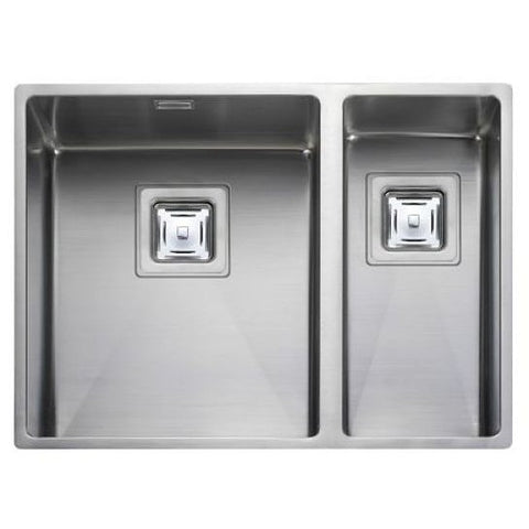 Rangemaster Atlantic Kube Kub3418 1.5 Bowl Sink And Waste (L/h Or R/h Small Bowl) Undermounted Sinks