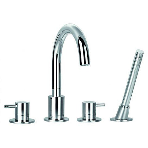 Levo 4-Hole Bath And Shower Mixer With Set