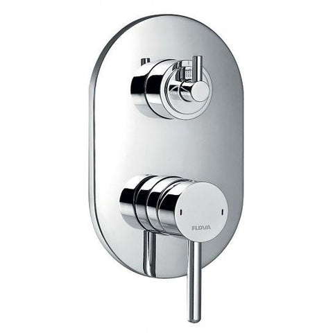 Levo Concealed Manual Shower Mixer With 3-Way Diverter Surface Valves