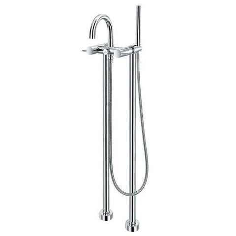 Levo Floor Standing Tall Shower Mixer With Set