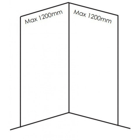 Small Corner BB Nuance Shower Enclosure Pack - KBME