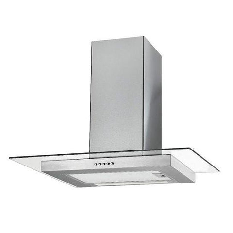 Unbranded Stainless Steel Flat Glass Hood Chimney Cooker Hoods
