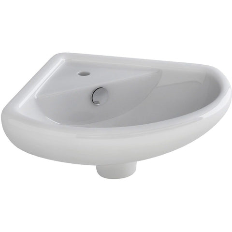 Ivo Cloakroom Corner Basin One Tap Hole