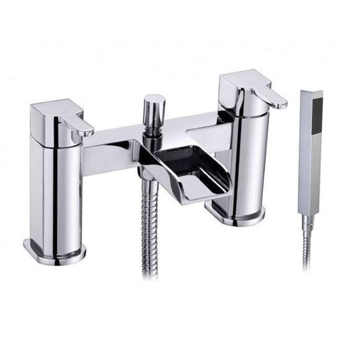 River Waterfall Bath Shower Mixer With Handset