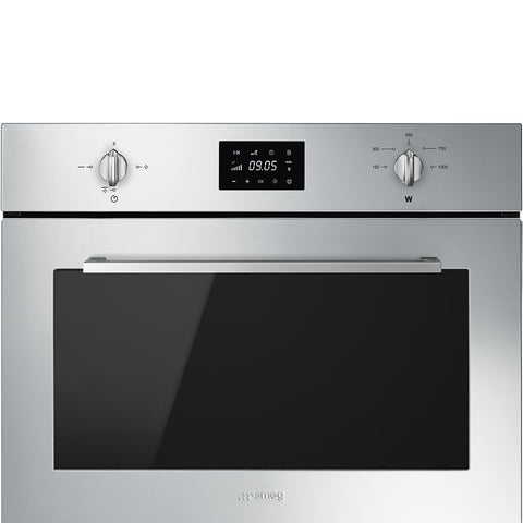 Smeg SF4400MX 45cm Reduced Height Microwave Oven with Electric Grill