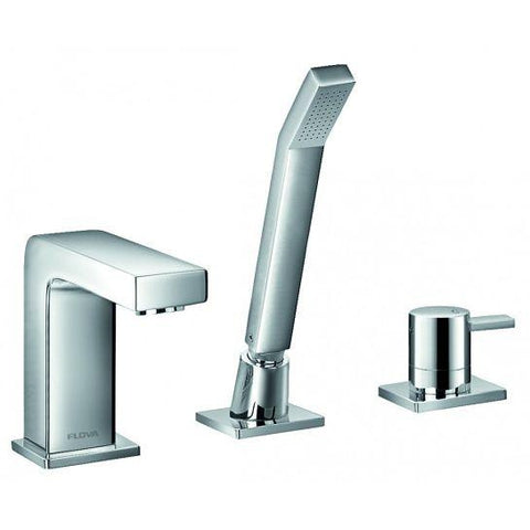 Str8 3-Hole Bath And Shower Mixer With Set
