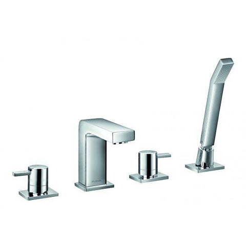 Str8 4-Hole Bath And Shower Mixer With Set