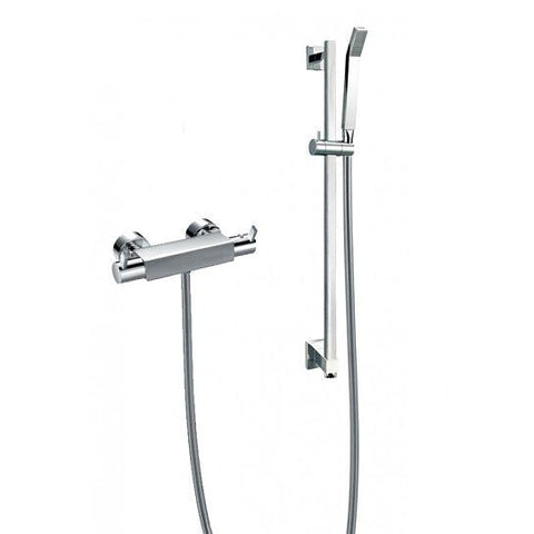 Str8 Bar Valve With Adjustable Height Shower Head Mixers