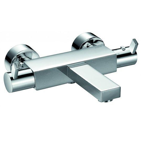 Str8 Wall Mounted Thermostatic Bath And Shower Mixer With Hand-Shower Set