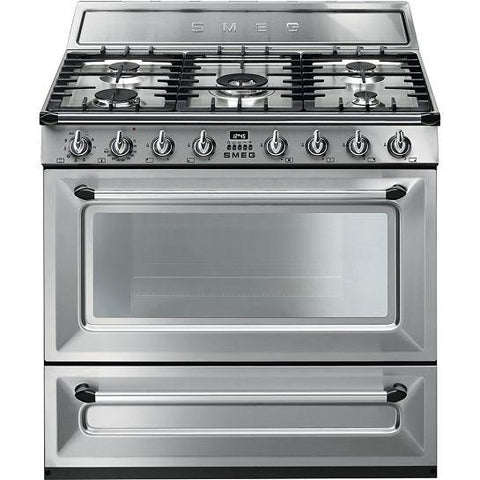 Smeg Victoria Single Cavity Tr90 Dual Fuel Range Cooker Cookers