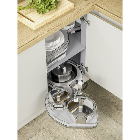 Twin Shelf Corner Storage Solution Kitchen Gadgets