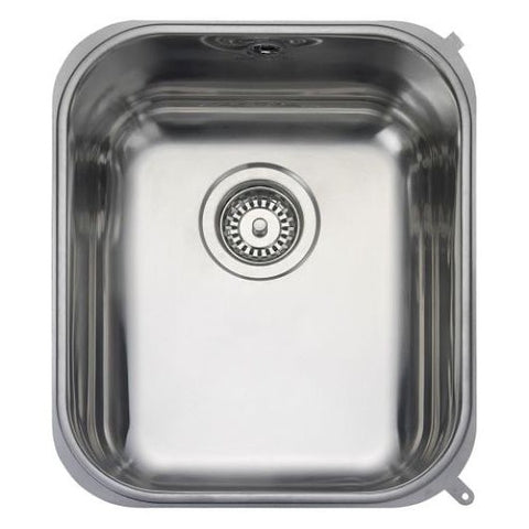 Rangemaster Atlantic Classic Ub35 Medium Bowl Sink And Waste Undermounted Sinks