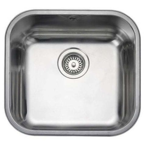Rangemaster Atlantic Classic Ub40 Medium Bowl Sink And Waste Undermounted Sinks