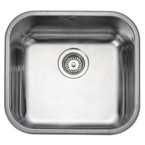 Rangemaster Atlantic Classic Ub45 Medium Bowl Sink And Waste Undermounted Sinks