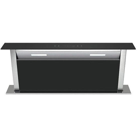 Unbranded Ubddch90A 90Cm Down Draft Hood In Black Glass Designer Cooker Hoods