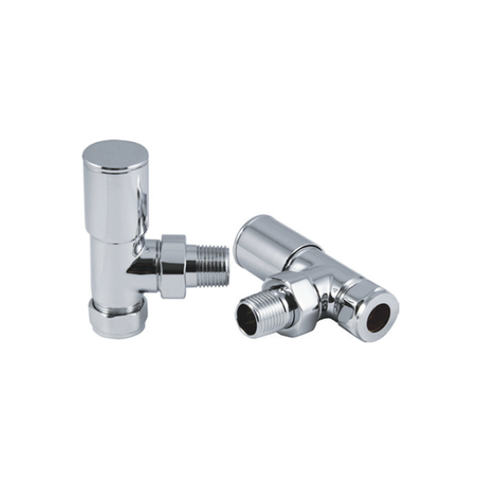 Portland Angled Chrome Valve 15Mm Radiator Valves & Heating Elements