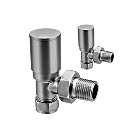 Portland Angled Brushed Valve 15Mm Radiator Valves & Heating Elements
