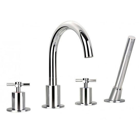 Xl 4-Hole Bath And Shower Mixer With Set