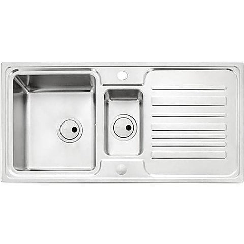 Abode Apex 1.5 Bowl And Drainer (Reversible) Overmounted Sinks