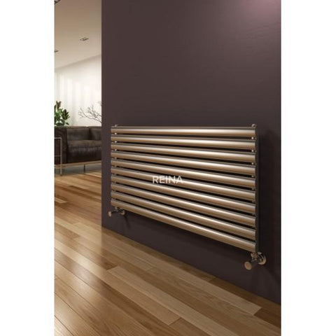 Artena Single Satin Stainless Steel Radiators