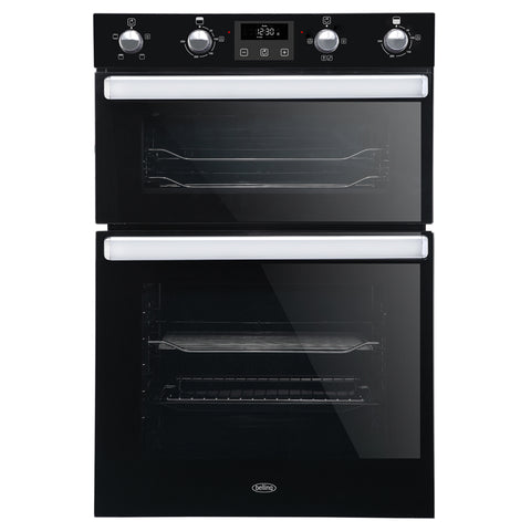 Belling 90cm Built-in Electric Multifunction Double Oven with Programmable Timer (B1902FPT)