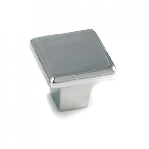 Chrome Square Knob Fitted Handles