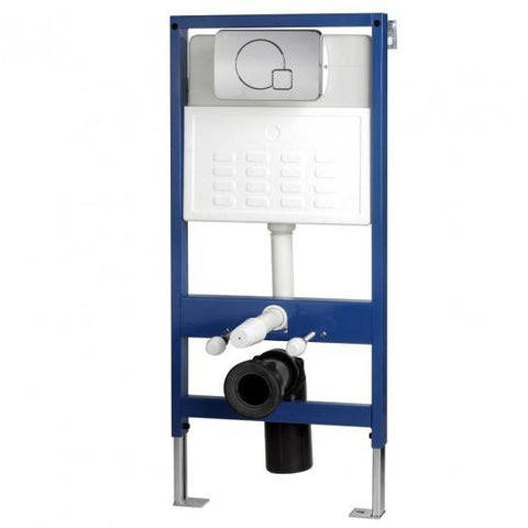 Wall-Hung Wc Bowl Frame System With Chrome Dual Flush Plate Toilet Mounting Kits