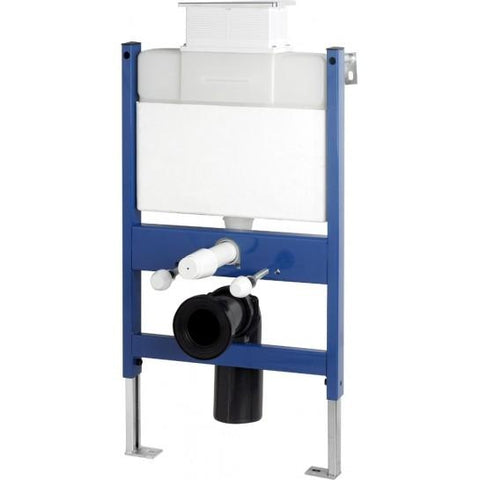 Reduced Height Wall-Hung Wc Bowl Frame System With Top Mounted Chrome Dual Flush Plate Toilet Mounting Kits