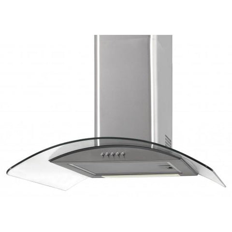 Unbranded Curved Glass Chimney Hood - Stainless Steel Cooker Hoods
