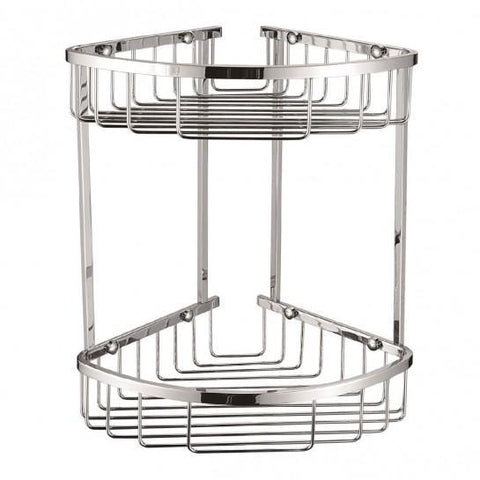 Chrome Double Corner Basket
