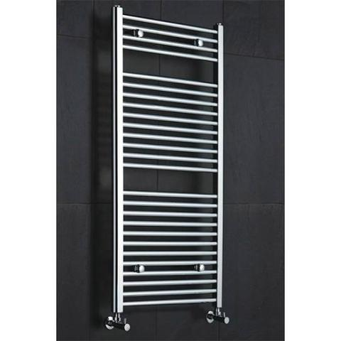 Diva Straight Chrome Heated Towel Rails