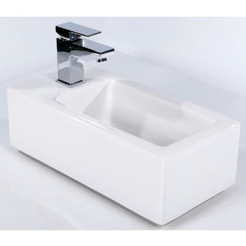 Arkansas Rectangular Cloakroom Basin