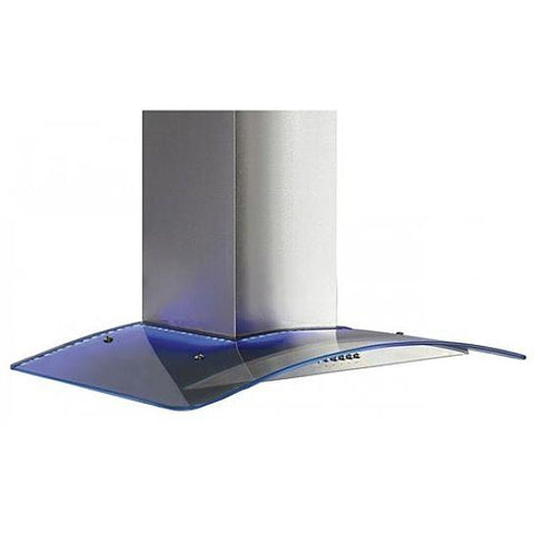 Unbranded Stainless Steel Curved Glass Hood With Led Lighting Chimney Cooker Hoods