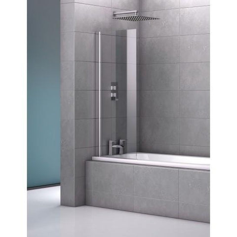 Geneva 600Mm Single Frameless Bath Screen Screens