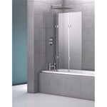 Geneva 1200Mm Triple Frameless Bath Screen Screens