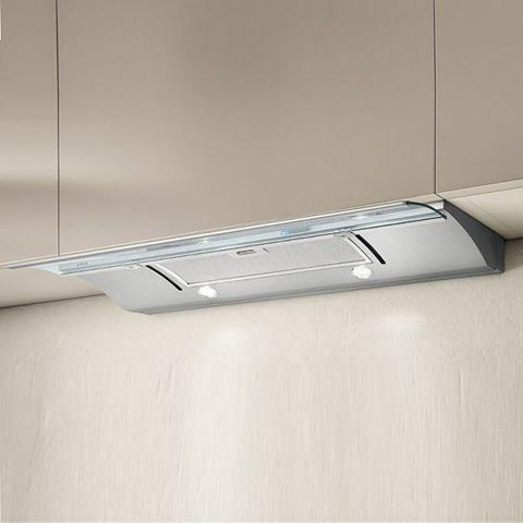 Elica Glide Built-In-Telescopic Hood (Stainless And Glass) Integrated Cooker Hoods